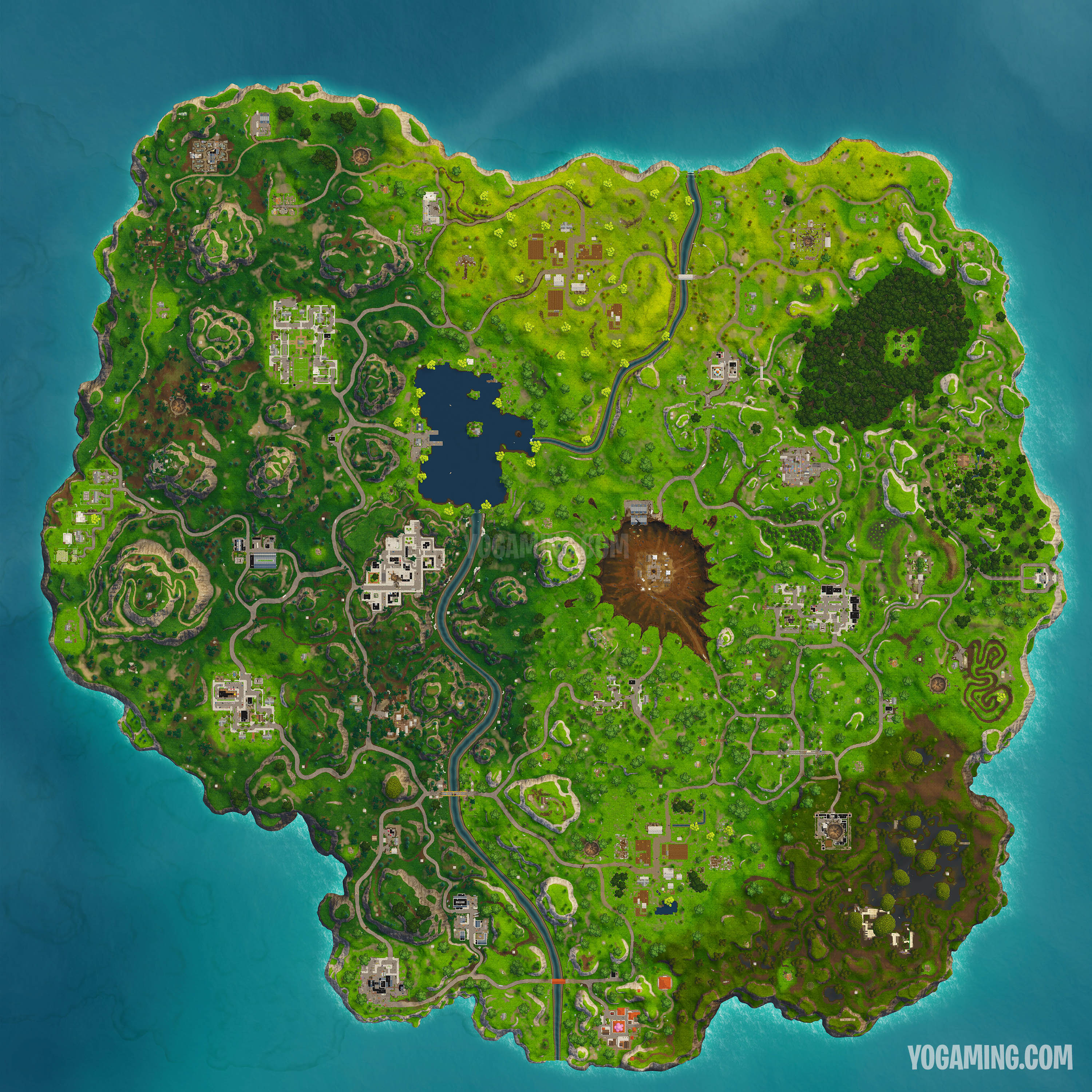 Fortnite was updated to patch 42 today and with it came a number of small changes to the map particularly an eerie update to the meteor at Dusty Divot