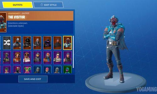 Fortnite Blockbuster Skin The Visitor