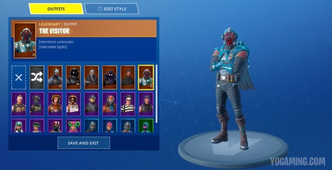 Fortnite Blockbuster Skin The Visitor