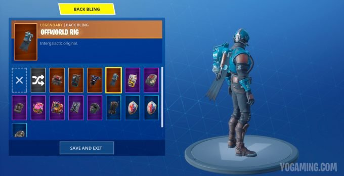 Fortnite Blockbuster Challenge Back Bling