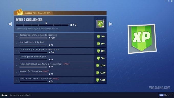 Fortnite Season 3, week 7 challanges