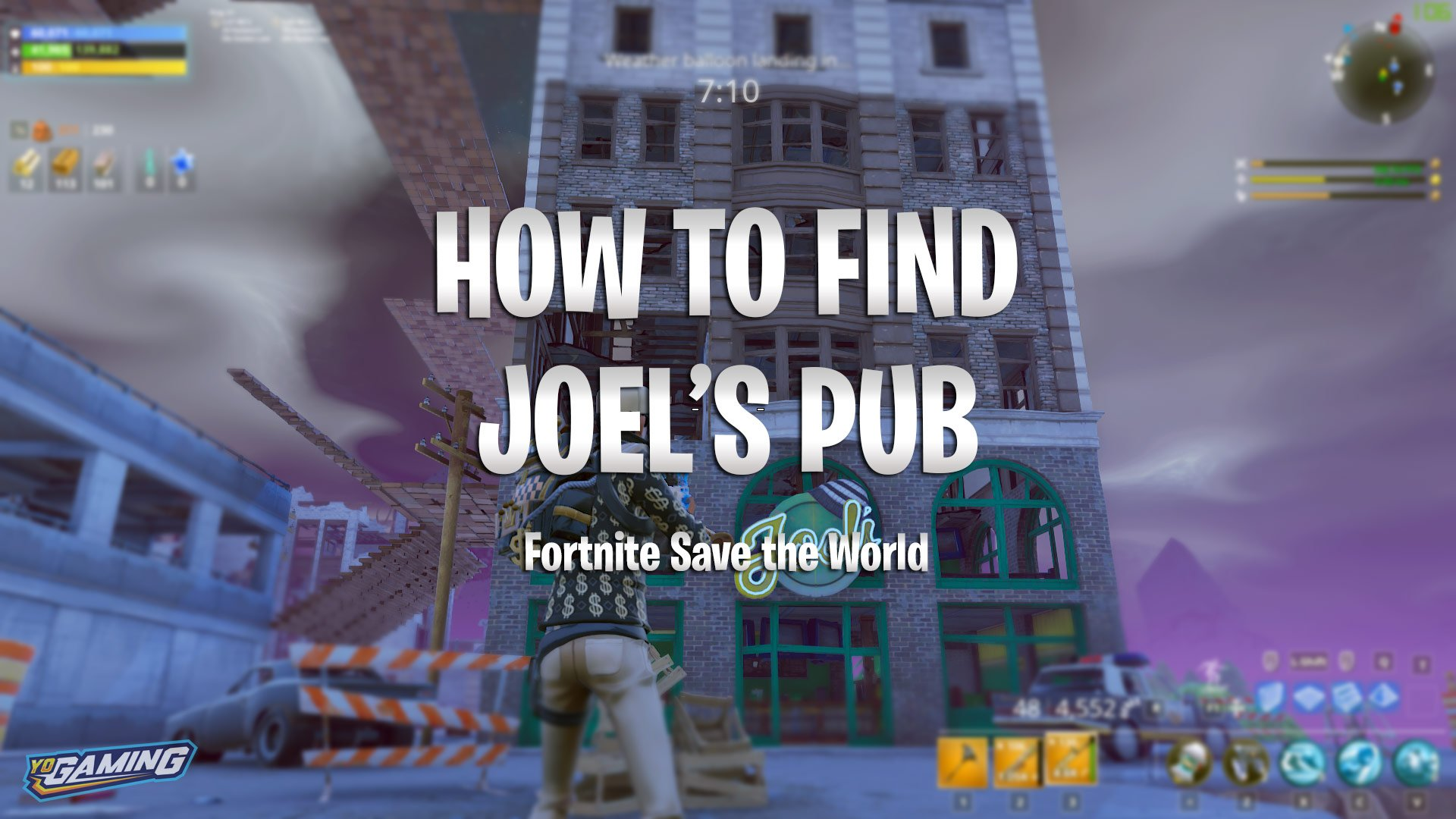 how to find joel s pub fortnite save the world - fortnite save the world quest survivor