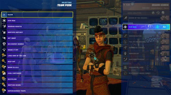 Fortnite Save the World Mythic Hero Team Perks