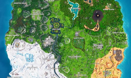 Fortnite Season 8 High Resolution Map with Names