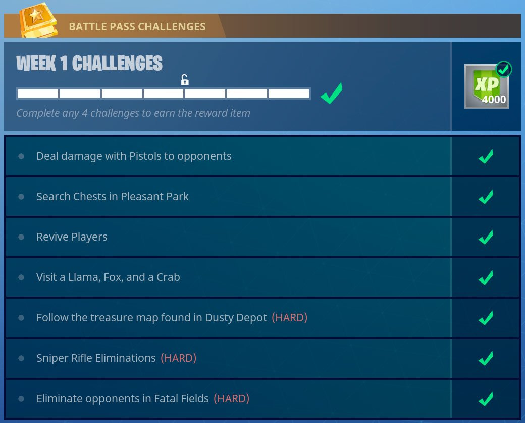 season 3 week 1 battle pass challenges fortnite s3 w1 challanges guide - fortnite battle pass challenges week 1
